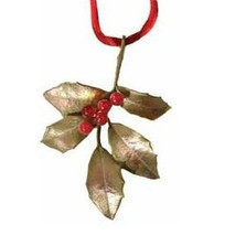 Holly Bronze Ornament  | Michael Michaud Table Art | taOR9364ABRJ