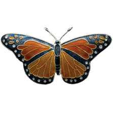 Monarch Butterfly Cloisonne Pin | Bamboo Jewelry | bj0003p