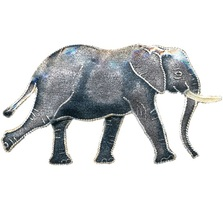 Walking Elephant Cloisonne Pin | Bamboo Jewelry | bj0057p