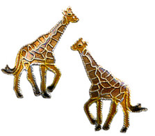 Giraffe Cloisonne Post Earrings | Bamboo Jewelry | BJ0058pe -2