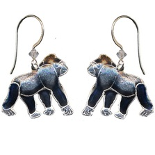Gorilla Cloisonne Wire Earrings | Bamboo Jewelry | bj0059e