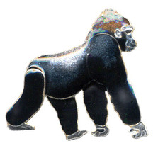 Gorilla Cloisonne Pin | Bamboo Jewelry | bj0059p