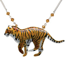 Tiger Cloisonne Necklace | Bamboo Jewelry | bj0062ln