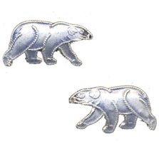Polar Bear Cloisonne Post Earrings | Bamboo Jewelry | bj0063pe