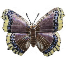 Mourningcloak Butterfly Cloisonne Pin | Bamboo Jewelry | 0127p