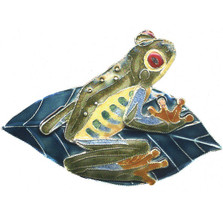 Red Eyed Tree Frog Cloisonne Pin | Bamboo Jewelry | bj0129p