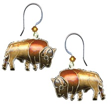 Buffalo Cloisonne Wire Earrings | Bamboo Jewelry | bj0164e