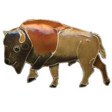 Buffalo Cloisonne Pin | Bamboo Jewelry | bj0164p