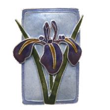 Japanese Iris Cloisonne Pin | Bamboo Jewelry | bj0185P