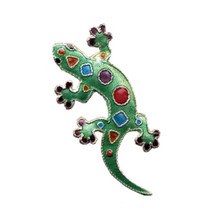 Art Gecko Cloisonne Pin | Bamboo Jewelry | bj0209p