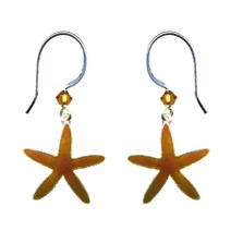 Sea Star Cloisonne Wire Earrings | Bamboo Jewelry | BJ0231e