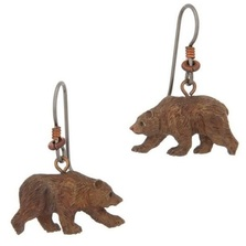 Grizzly Bear Wire Earrings | Cavin Richie Jewelry | BE76FH