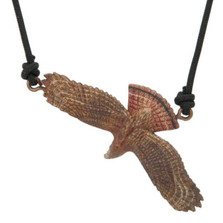 Red-Tailed Hawk Bronze Pendant Necklace | Cavin Richie Jewelry | DMOKB208-PEND