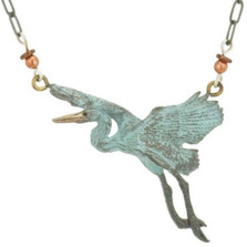 Heron Bronze Beaded Necklace | Cavin Richie Jewelry | DMOKB260-6BN -2