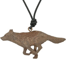 Wolf Running Pendant Necklace | Cavin Richie Jewelry | DMOKB-28-PEND