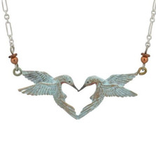 Hummingbird Heart Necklace | Cavin Richie Jewelry | KB336-SSC -2