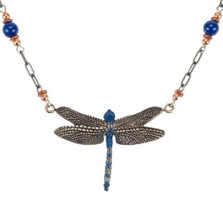 Dragonfly Blue Beaded Necklace | Cavin Richie Jewelry | DMOKB-354-6BN