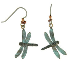 Green Dragonfly Wire Earrings | Cavin Richie Jewelry | DMOKBE2AFH
