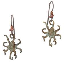 Octopus Bronze Wire Earrings | Cavin Richie Jewelry | DMOKBE68-FH