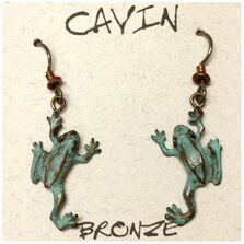 Tree Frog Wire Earrings | Cavin Richie Jewelry | DMOKBE6-FH