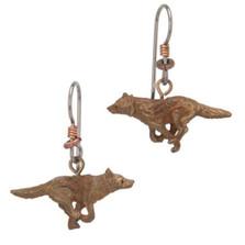 Wolf Running Earrings | Cavin Richie Jewelry | DMOKBE-72-FH