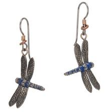 Dragonfly Blue Earrings | Cavin Richie Jewelry | DMOKBE-89-FH