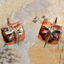 Dragonfly Mirror Earrings | Elaine Coyne Jewelry | ECGDRX75e