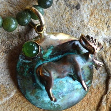 Moose Jade Pendant Necklace | Elaine Coyne Jewelry | ECGMO487n -2