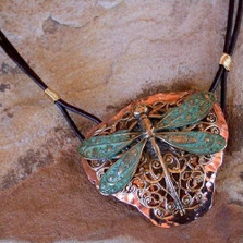 Dragonfly Neo-Victorian Filigree Pendant Necklace | Elaine Coyne Jewelry | ecgnv7pd