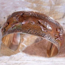 Fox Solid Brass Cuff Bracelet | Elaine Coyne Jewelry | ECGVNE3377bc