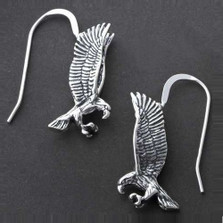 Flying Eagle Sterling Silver Wire Earrings | Kabana Jewelry | KABE681