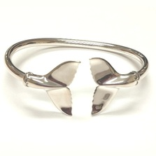 Whale Tail Sterling Silver Bracelet | Kabana Jewelry | Kbr089