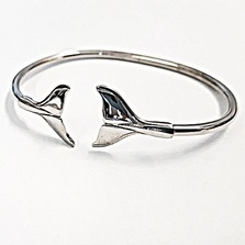 Whale Tail Sterling Silver Bracelet Small | Kabana Jewelry | KBR150-R