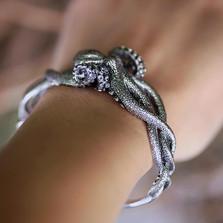 Octopus Sterling Silver Cuff Bracelet | Kabana Jewelry | Kbr321 -2