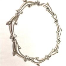 Dolphin Sterling Silver Link Bracelet | Kabana Jewelry | Kbr475