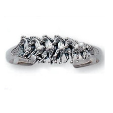 Running Horses Sterling Silver Cuff Bracelet | Kabana Jewelry | Kbr489