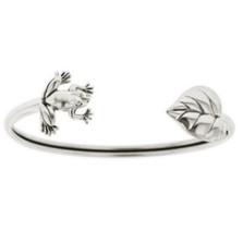 Frog & Leaf Sterling Silver Tube Bracelet | Kabana Jewelry | Kbr505 -2