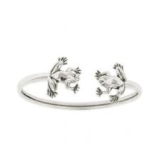 Double Frog Sterling Silver Bracelet | Kabana Jewelry | Kbr511 -2