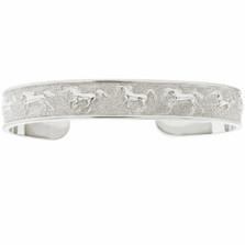 Horse Sterling Silver Cuff Bracelet | Kabana Jewelry | KBR773