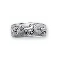 Horse Sterling Silver Cuff Bracelet | Kabana Jewelry | Kbr750