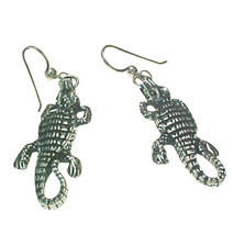 Crocodile Sterling Silver Wire Earrings | Kabana Jewelry | Ke100