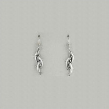 Dolphin Pod Sterling Silver Wire Earrings | Kabana Jewelry | Ke214