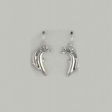 Double Dolphin Sterling Silver French Wire Earrings | Kabana Jewelry | Ke224
