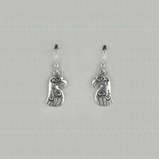 Eagle Totem Sterling Silver Earrings | Kabana Jewelry | Ke290