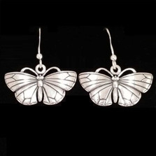 Butterfly Sterling Silver Earrings | Kabana Jewelry | Ke328
