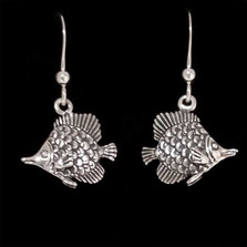 Tropical Fish Sterling Silver Wire Earrings | Kabana Jewelry | Ke415