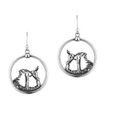 Arabian Horse Foal Sterling Silver Wire Earrings | Kabana Jewelry | Ke620