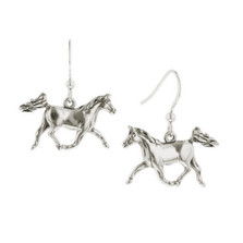Prancing Horse Sterling Silver Wire Earrings | Kabana Jewelry | Ke624