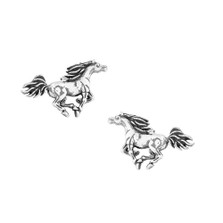 Galloping Horse Sterling Silver Post Earrings | Kabana Jewelry | Ke638