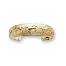 Horse 14K Gold Cuff Bracelet | Kabana Jewelry | Kgbr379
